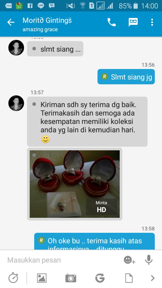 Testimoni Konsumen Original Mutiara Order Paket Perhiasan Mutiara